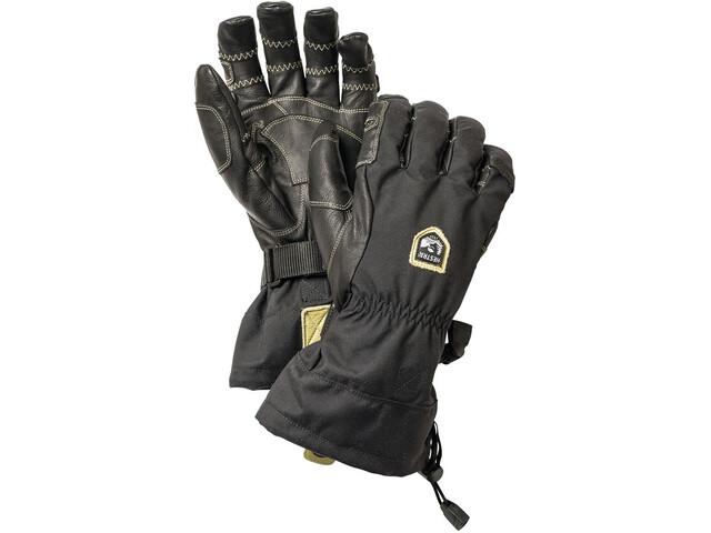 Hestra Army Leather Heli Ski Ergo Grip 5-finger Svart/Svart